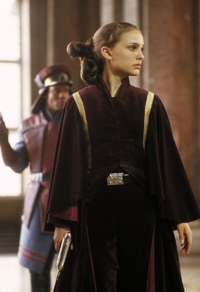 Star Wars Phantom Menace Padme Amidala Cosplay Costume Red Queen Dress