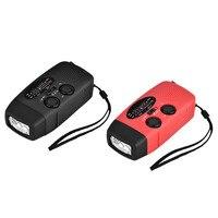 Emergenza Dynamo Solare Autoalimentato AM/FM/WB (NOAA) Radio Torcia LED Phone Charger adattatori con cavi per ipod/MP3/MP4
