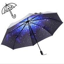 Звездный Солнцезащитный УФ зонтик для защиты от солнца мужской автоматический неавтоматический студенческий складной Parapluie