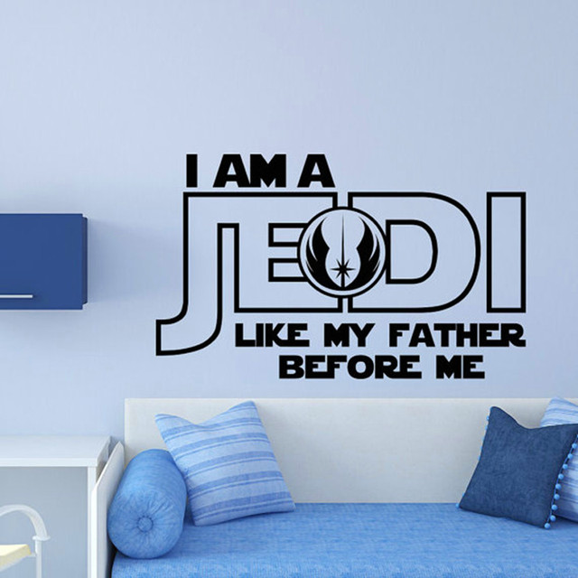 star wars wall decal i am a jedi like my father before me wall art