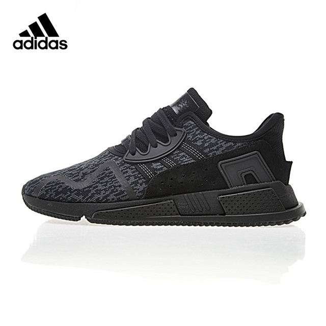 Original New Arrival Official Adidas EQT Cushion ADV Men s All Black  Running Shoes Sport Outdoor Sneakers Good Quality BY9507 1b71882014e6