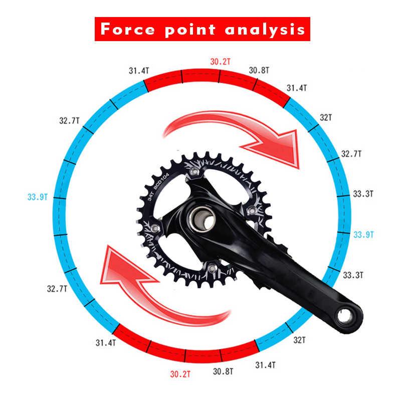 Велосипедный Кривошип MTB 104BCD круглый 32 T/34 T/36 T/38 T кольцо цепи узкая широкая велосипедная Звездочка круг шатунная пластина части велосипеда