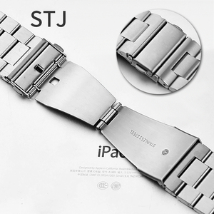 Image 5 - STJ ブランドステンレス鋼用時計バンドシリーズ 5/4/3/2/1 38 ミリメートル 42 ミリメートル金属時計バンド iwatch シリーズ 4 40 ミリメートル 44 ミリメートル