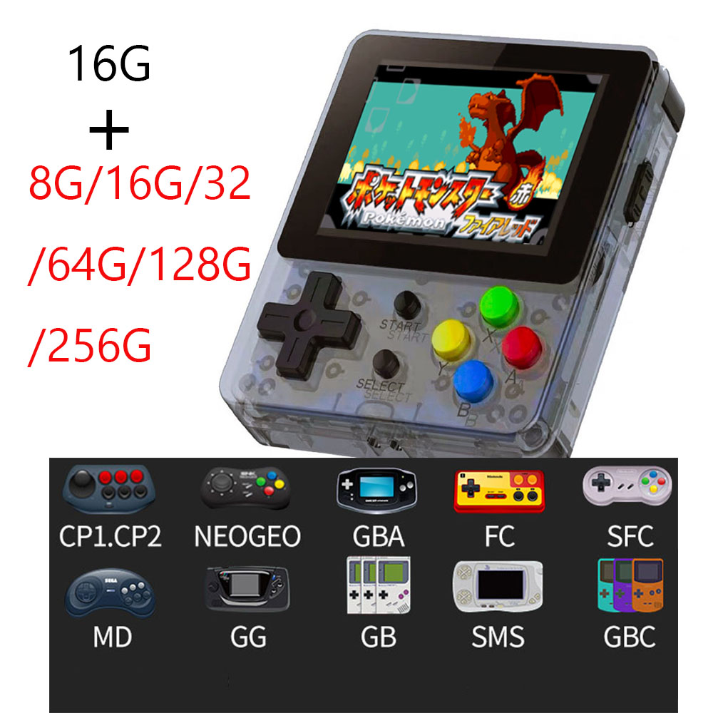 Coolbaby 16G+16/32/64/128/256G OPEN SOURCE Video Handheld Game Console Mini Portable Nostalgic Retro Gaming Player TV Children-in Handheld Game Players from Consumer Electronics