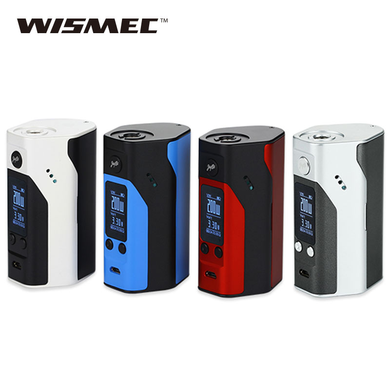 100% Original Wismec Reuleaux RX200S TC Mod Vape 200W RX200S Box Mod OLED Screen Box Mod Electronic Cigarettes fit Avocado RDTA стоимость