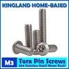 M3 Torx 6 Lobe Pan Round Head Six Lobe Pin In Torx Security Screw Bolt 304