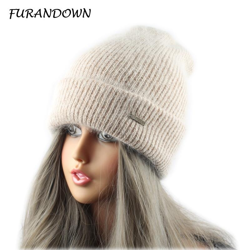 FURANDOWN Κουνέλι Γούνα Πλεκτά Καπέλο - Αξεσουάρ ένδυσης - Φωτογραφία 3