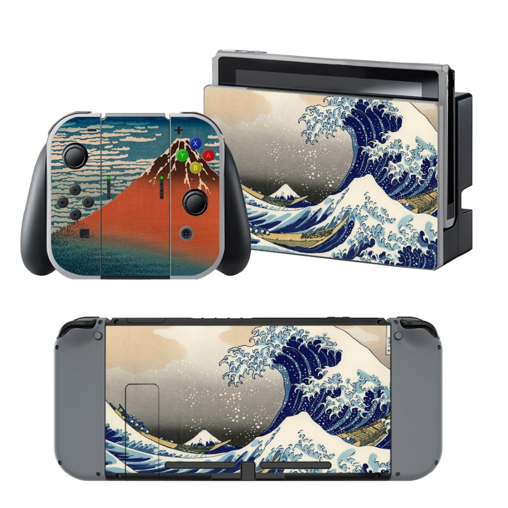 Newly Arrival Vinyl Skin Sticker for Nintendo Switch Console Protector Cover Decal Vinyl Skin for Skins Stickers 0139