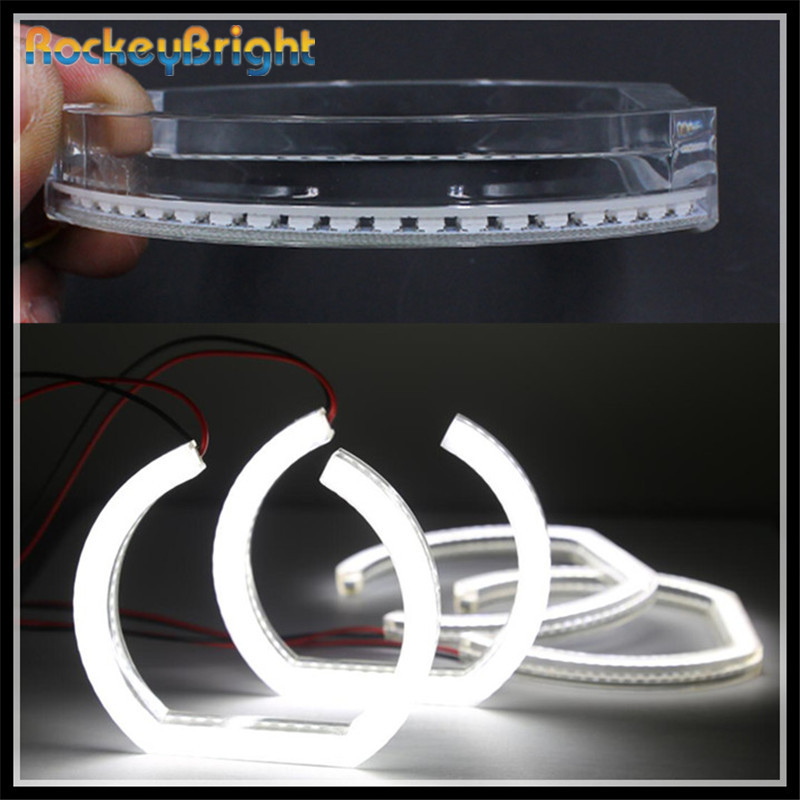 Rockeybright cristal SMD LED yeux d'ange pour BMW E90 berline voiture LED ange yeux Halo anneaux kit blanc DRL E90 Halo LED yeux d'ange
