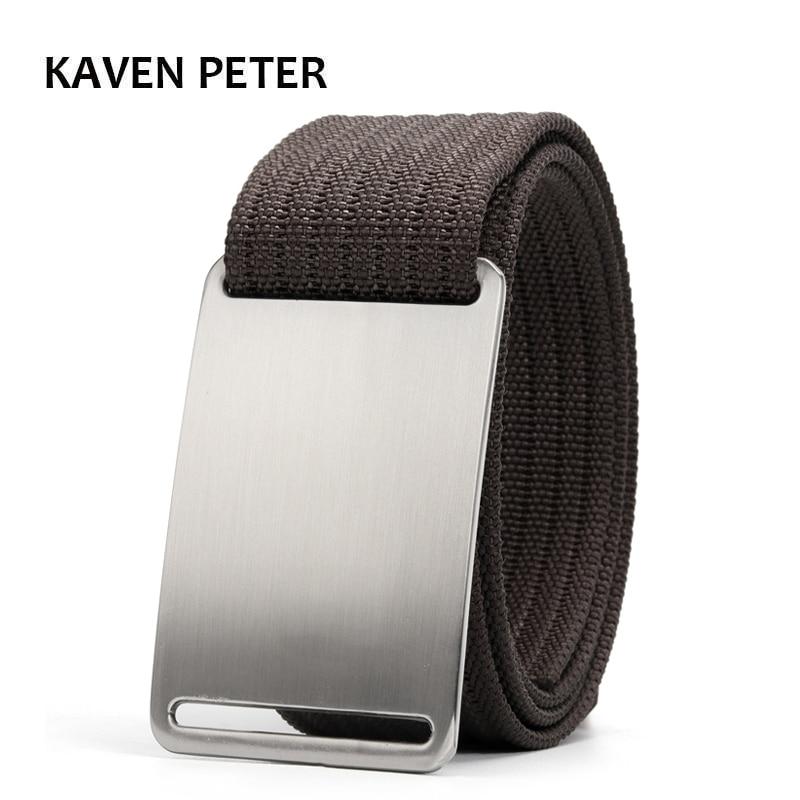 Canvas Military Tactical Belt For Mens Designer Belt Men Cinto Masculino Luxo 1.5
