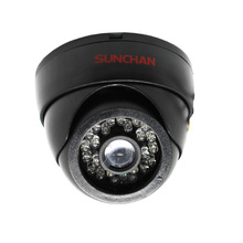 SunChan Analogue Security Camera Color CMOS 720TVL 24 IR LEDs Night Vision Security Camera Indoor Plastic Dome CCTV Camera