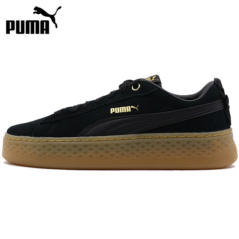Original New Arrival  PUMA Smash Platform Frill Women's  Skateboarding Shoes Sneakers