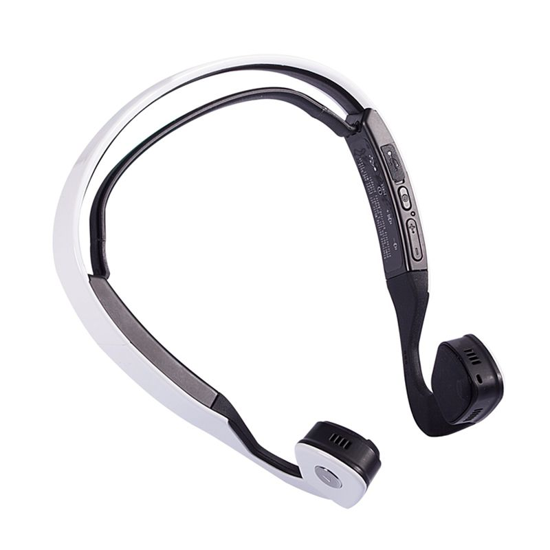 Swear Bone Conduction Earphones Bluetooth 4.0 Wireless Sport Headphones With Stereo Support Music Phone Call white/black color s wear windshear sport bone conduction bluetooth earphones with mic