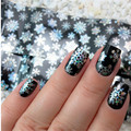 Christmas Snowflake Nail Foils Holographic Nail Art Transfer Sticker Nail Art Decoration