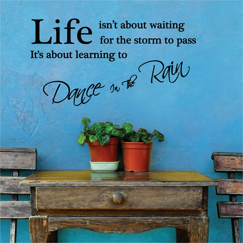 Quote inspirational quotes art vinyl decoration home decal living room bedroom wall stickers dance quotes decals 2SJ24-in Wall Stickers from Home & Garden