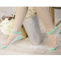 Женские новые модные забавные шелковые чулки прозрачные эластичные носки