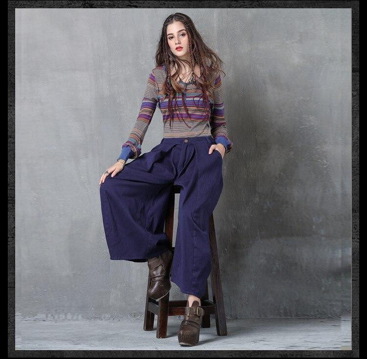 Jambes Mode De Vêtements Lâche Femmes Pantalones Larges Pantalons Femelle Occasionnels Printemps 1 À Coréenne Mujer Été Bleu Pantalon 2018 RnqBwE