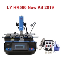 New LY HR560C 650W BGA Rework Station kit K type thermocouple closed loop control 3 zones Separated hot air blower iron 60W