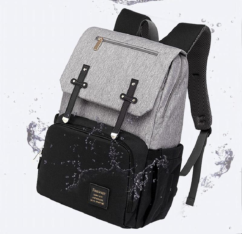 HTB1cz6iXW5s3KVjSZFNq6AD3FXaS 2019 Diaper Bag Mummy Daddy Backpack Baby Stroller Bag Waterproof Oxford Handbag Nursing Nappy Bag Kits USB Rechargeable Holder