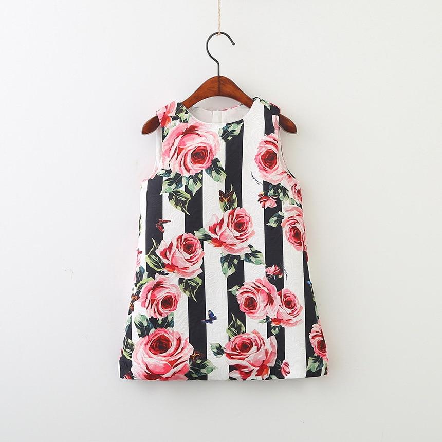 HTB1cz6kGXGWBuNjy0Fbq6z4sXXar Girls Dress Spring Autumn European and American Style embroidery Flower vest dress toddler Baby Girls clothing 2-8Yrs
