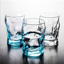 2 PCS /Set Geometric design Crystal Whiskey Glass Cup For the Home Bar Beer Water and Party Hotel Wedding Glasses Gift Drinkware