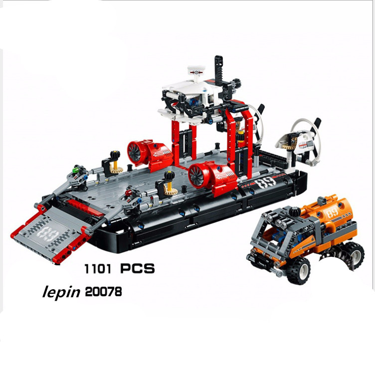 20078 Lepin  1101Pcs Technic Series The Hovercraft Set Compatible 42076 Model Building Blocks Bricks Toys For Kids As Gifts lepin city town city square building blocks sets bricks kids model kids toys for children marvel compatible legoe