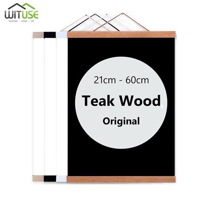 עץ פוסטר קולב תמונה מסגרת לבן שחור DIY תמונה בד הדפסת תליית קיר אמנות בית תפאורה 21-60 cm a4 A3 מותאם אישית גודל חדש