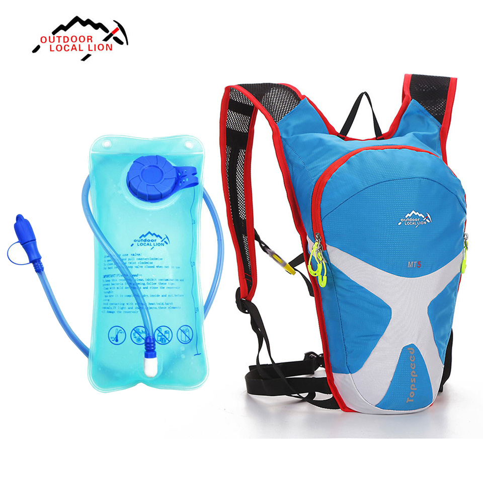 LOCAL LION 5L Hydration Water Bag Backpack + 1.5L Water Bag Running Outdoor Sports Cycling Bike Bags Camelback Water Bladder cheap sale hydration water bladder bag cleaning tube hose sucker brushes drying rack set