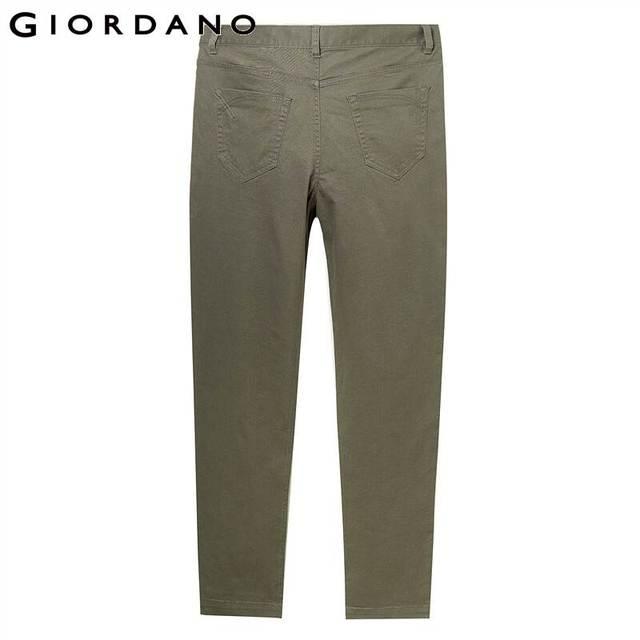 Giordano Men Pants Men Stretchy Cotton Spandex Solid Color Casual Pants Men Zip Front Button Closure Pantalones Hombre 59