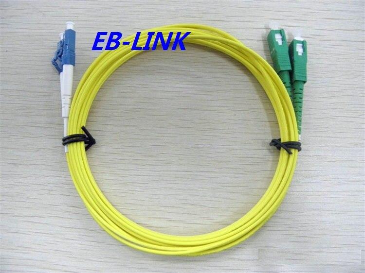 Оптический кабель, Lc / PC-SC / apc, 3.0 мм диаметр, Одномодовый 9/125, Четырехъядерный, 20 м