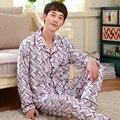 Nova Chegada do Outono E do Inverno dos homens Treino Longo-Manga Comprida de Algodão Pijamas Set Masculino Sleepwear 144