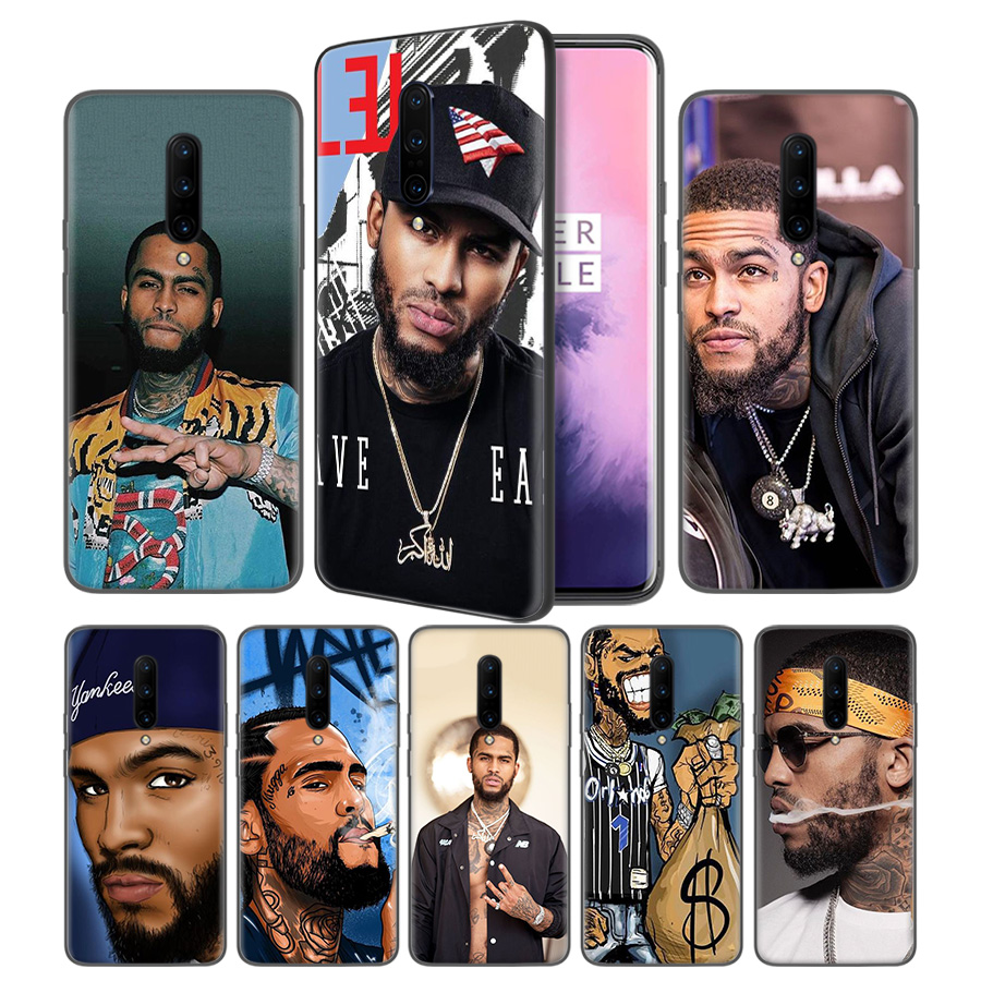 Dave East Soft Black Silicone Case Cover for font b OnePlus b font 6 6T font