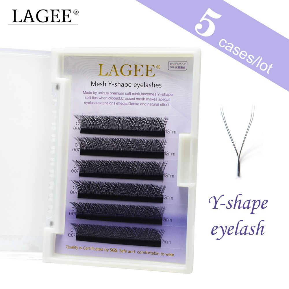 a13d0ae5d8d LAGEE 5 case high-quality faux mink Y-shape volume eyelash extension false  eyelashes