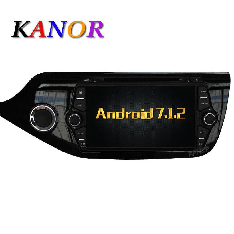 Android 7.1 Quad Core Оперативная память 2 г dvd-плеер автомобиля для Kia Ceed 2013 2014 2015 2016 видео плеер мультимедиа WI-FI аудио SWC Географические карты