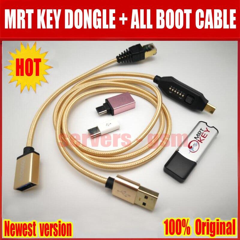 2019 plus récent Original MRT clé Dongle + UMF tous les câbles de démarrage (commutation facile) et Micro USB à type-c adaptateur