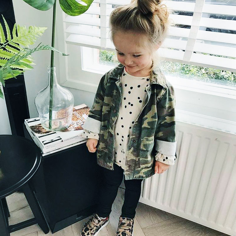 Yorkzaler Baby Girls Boys Jacket Cardigan 17 Fashion Spring Autumn Camouflage Coats Army Children's Windbreaker Outerwear 9