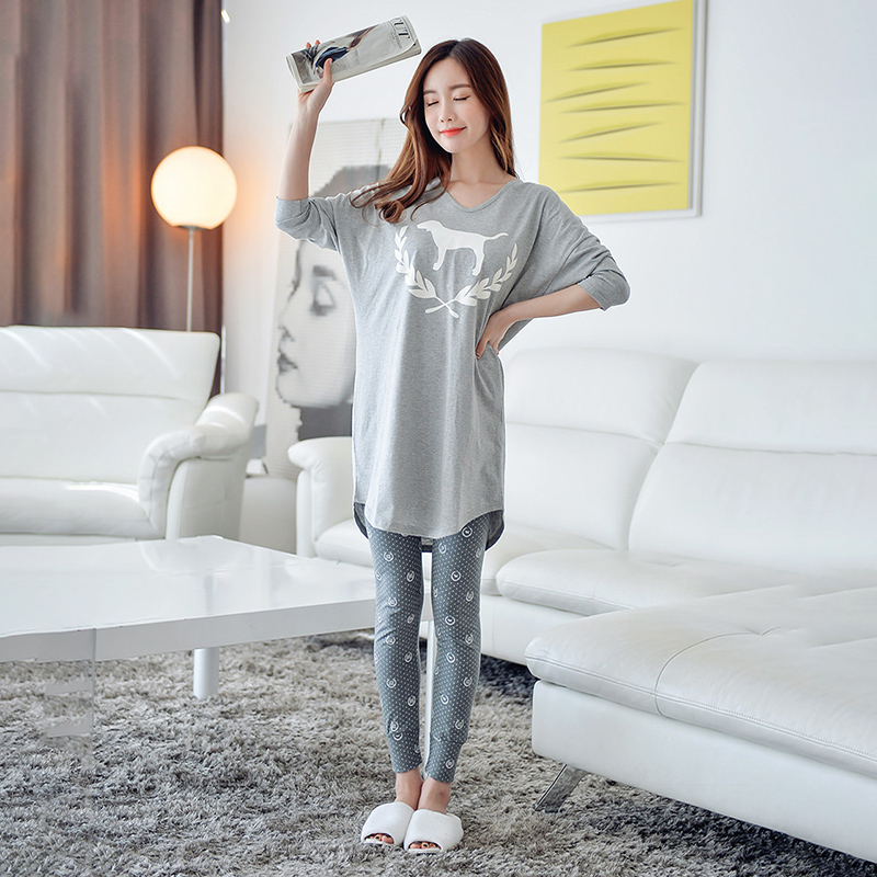 Women Pajamas Sets Long Sleeve Long Pants Cotton Women Sleepwear For Autumn Nightgown 2019 New Arrivals Casual Women Clothes