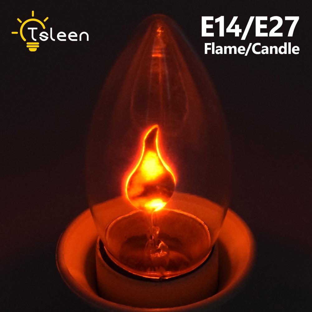 E14 E27 Retro Led Edison Light Bulb Led Flame Effect Fire