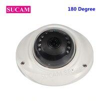 цена на 4MP Fisheye Mini Camera 1.7mm Lens 180 Degree Full HD Home Security IR Vandalproof Metal Dome AHD Camera 20M Night Vision