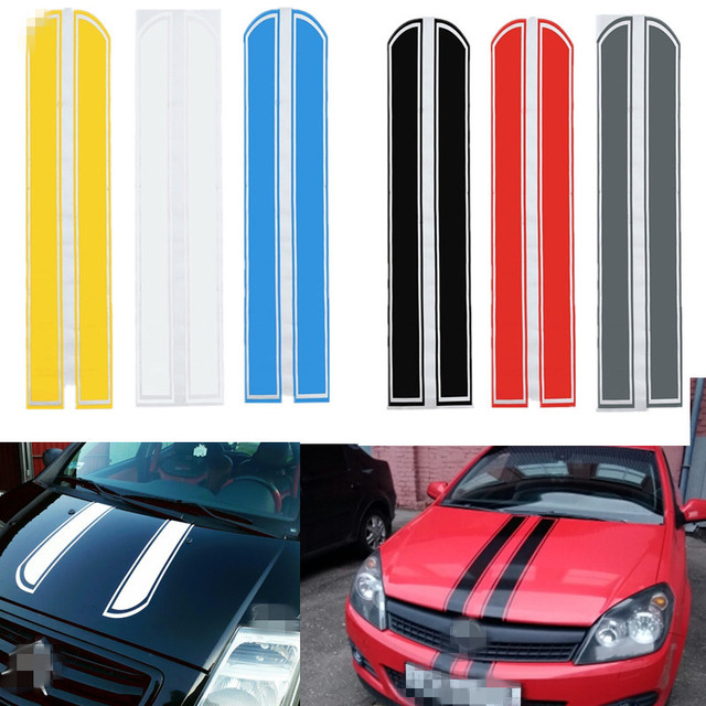 130cm Universal Car Motorcycle DIY Engine Hood Cover Scratch Sticker Auto Decoration Decal Vinyl Strip For BMW Mini Toyota Honda