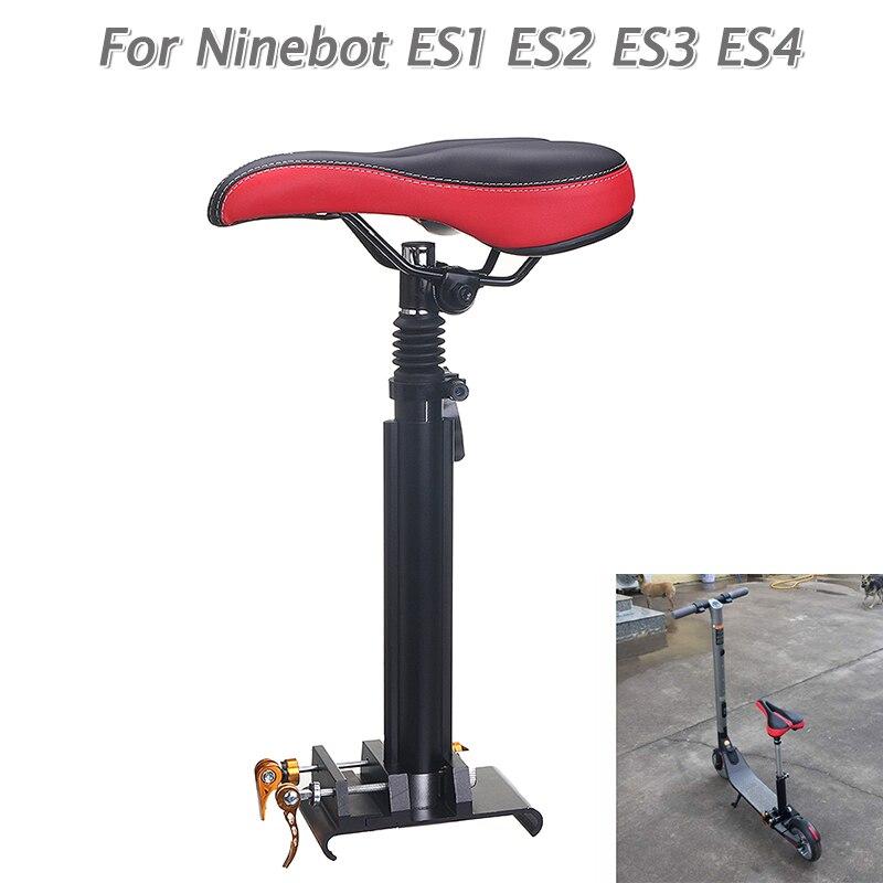 Ajustable plegable Silla de negro y rojo para Ninebot KickScooter ES1 ES2 ES3 ES4 Scooter Eléctrico