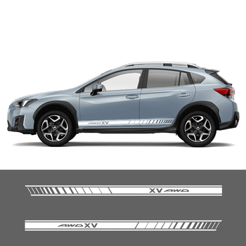 2 Sides XV Car Graphics Vinyl Side Stripes Auto Sticker Decals Car Styling For Subaru XV