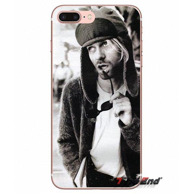 Kurt Cobain Nirvana bandas de Rock Reino Unido TPU caso para iPhone 4X4 4S 5 5S 5C SE 6 6 S 7 8 Plus, Samsung Galaxy J1 J3 J5 J7 A3 A5 2016, 2017