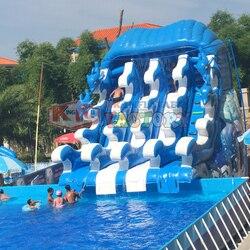 Tobogán de agua inflable de PVC resistente al desgaste, 19 años de fabricación profesional de China, Parque Acuático inflable