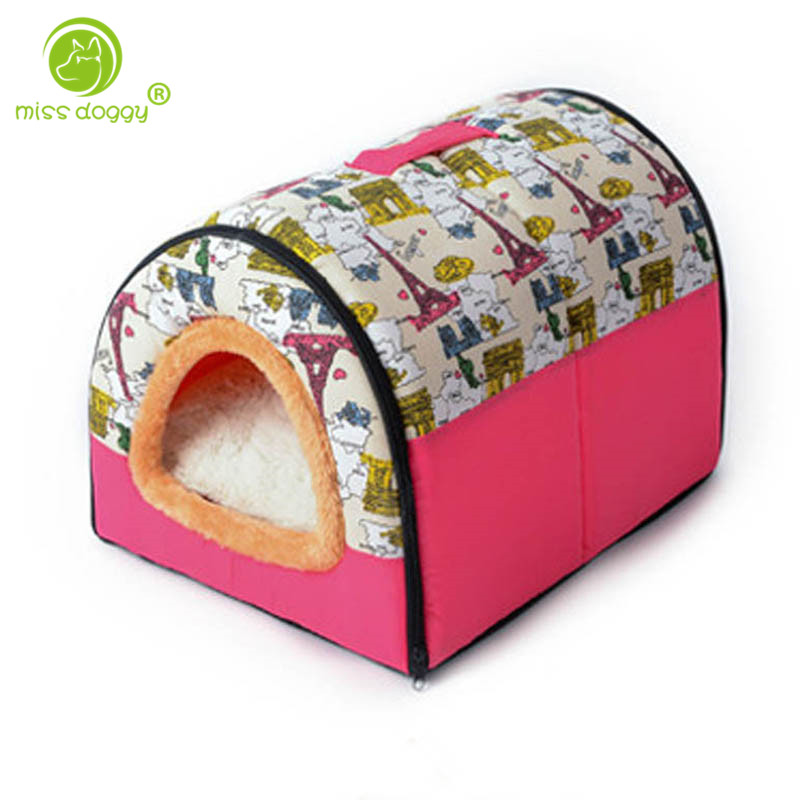 High Quality Pet Cat House Foldable Soft Comfortable Winter Cartoon Dog Bed Dog House Cu ...