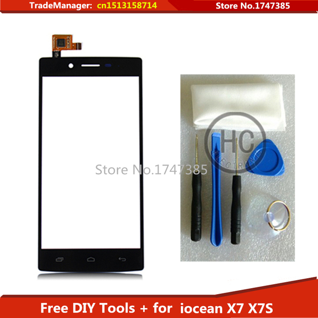 Бесплатные Инструменты для ПОДЕЛОК + Оригинальный Сенсорный Экран Для iocean X7 X7S HF502DOGS-V2 Turbo Plus Стекла сенсорный экран планшета Черный