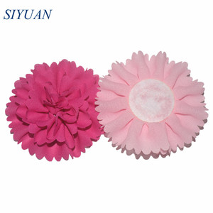 Image 5 - 50pcs/lot 3 Alternative Multilayer Chiffon Hair Flowers Without Clips For Garment Shoes Accessories FH32