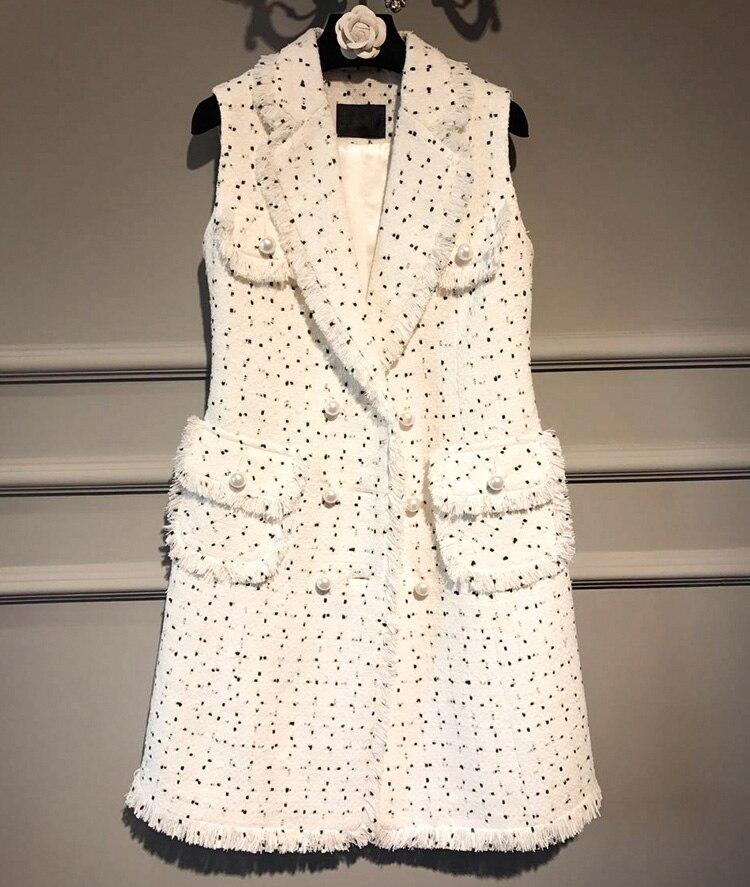 2017 г. женские Твид платье, удивительные жилет офисное платье, Элегантные Осенние повседневные платья большие размеры праздничное платье 5xl