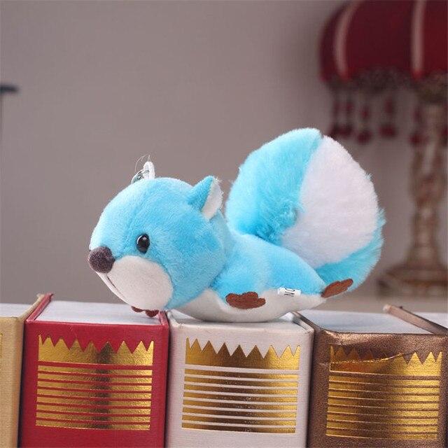 Ho não Moda Esquilo Animal de Pelúcia Boneca de Brinquedo do Anel Chave de Cadeia Faux Pele De Coelho PomPom Bolsa Encantos Keychain Do Carro da Mulher Do Partido bugiganga