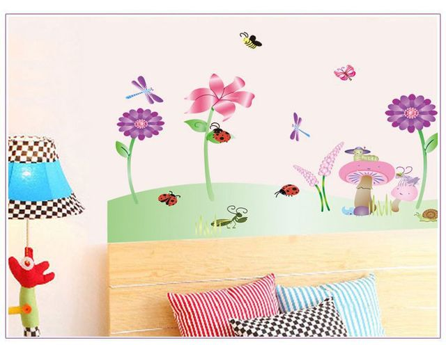 Cute Cartoon Topic Wall Decoration Stickers For Kids Bedroom Decor ...